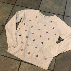 Old navy sequin polka dot sweatshirt size small
